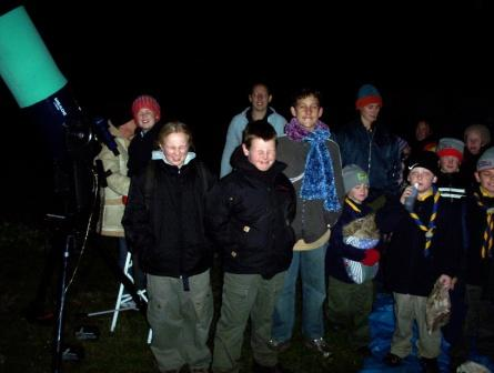 Trafalgar Victoria Cubs and Scouts Astronomy Night